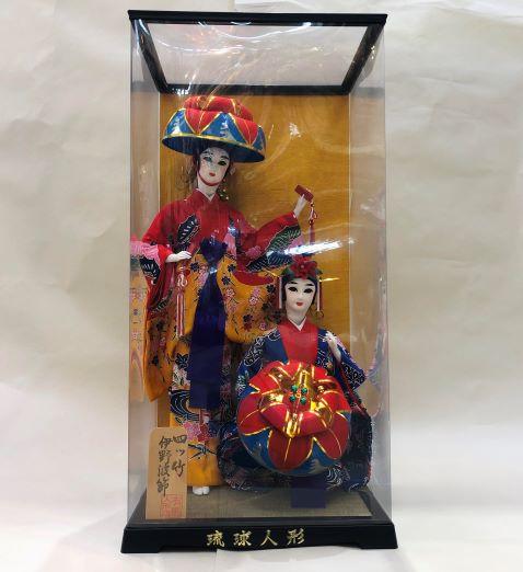 琉球人形◇四ツ竹ペア◇沖縄の伝統工芸品