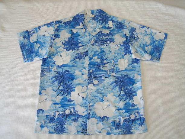 クールビズシャツとして まとめ買い特価 大好評 お早めに☆☆ 水色 アロハシャツ メーカー公式