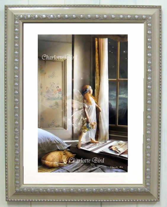天使 妖精 絵画 トゥインクル トゥインクル(きらきら光る夜空の星よ) シャーロット バード フォトグラフ 額 入り インテリア 妖精 の 写真家 【 送料無料 】 フェアリー エンジェル アート ヴィクトリア Charlotte Bird イギリス 英国