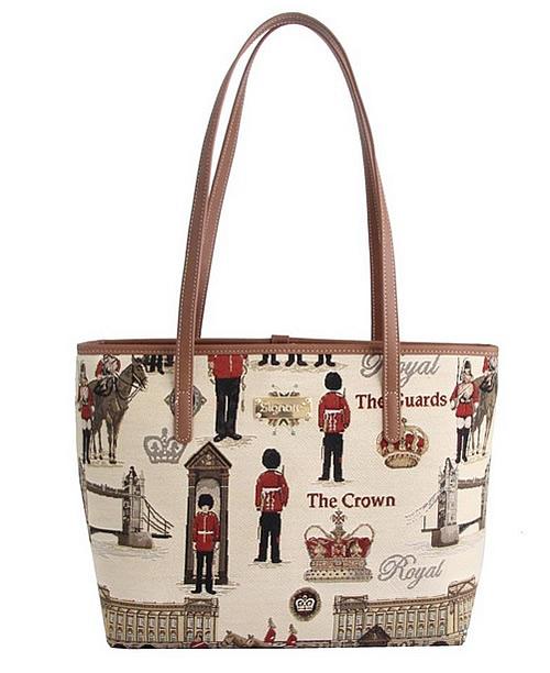 イギリス デザイン の バッグ です おしゃれなあなたに シグナーレ 今季も再入荷 トートバッグ ロイヤルガード フロム 新作からSALEアイテム等お得な商品 満載 レディース 英国雑貨 軽い イギリススタイル ジャガード織 イングランド ファッション ショルダーバッグ SIGNARE