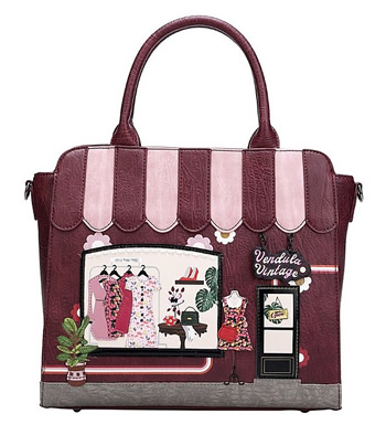 ザ・ヴィンテージショップベンデューラ ロンドン 2wayトートバッグ a4 縦型 レディース ファスナー付き かわいい ブランド 英国スタイル 女性用デザイナーズバッグ イギリス Vendula London The Vintage Shop Tote Bag【送料無料】