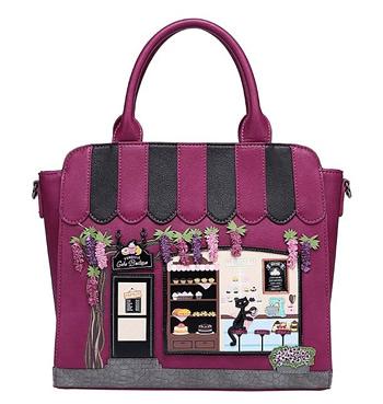 ザ・ケーキショップベンデューラ ロンドン 2wayトートバッグ a4 横型 レディース ファスナー付き かわいい ブランド 英国スタイル 女性用デザイナーズバッグ イギリス Vendula London The Cake Boutique Tote Bag【送料無料】