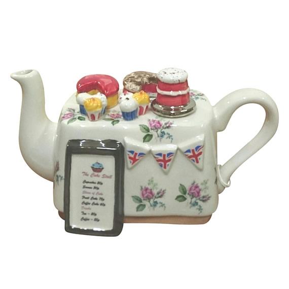ケーキテーブル ティーポット 大 インテリア イギリス製 英国 置物 ギフト コレクション