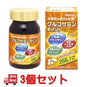 グルコサミンポイント(植物性グルコサミン)×3個セット 送料無料! 廣貫堂 発酵グルコサミン