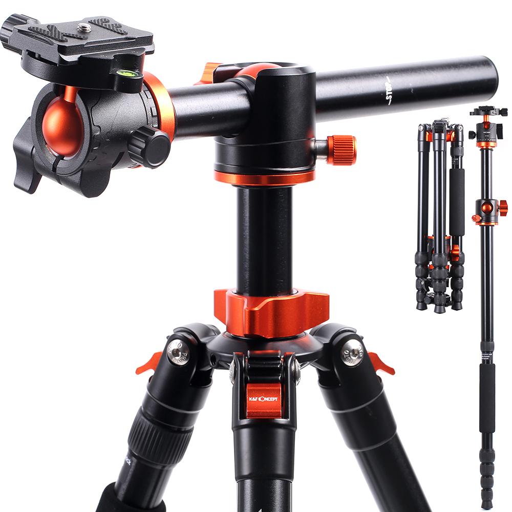 """67"""" 170cm KF Concept プロフェッショナル カメラ三脚 水平アルミニウム三脚 永遠の定番モデル ポータブル一脚 Canon 送料無料新品 Nikon 360度ボールヘッド付き TM2515T1 クイックリリースプレート DSLRカメラ用 Sony"""