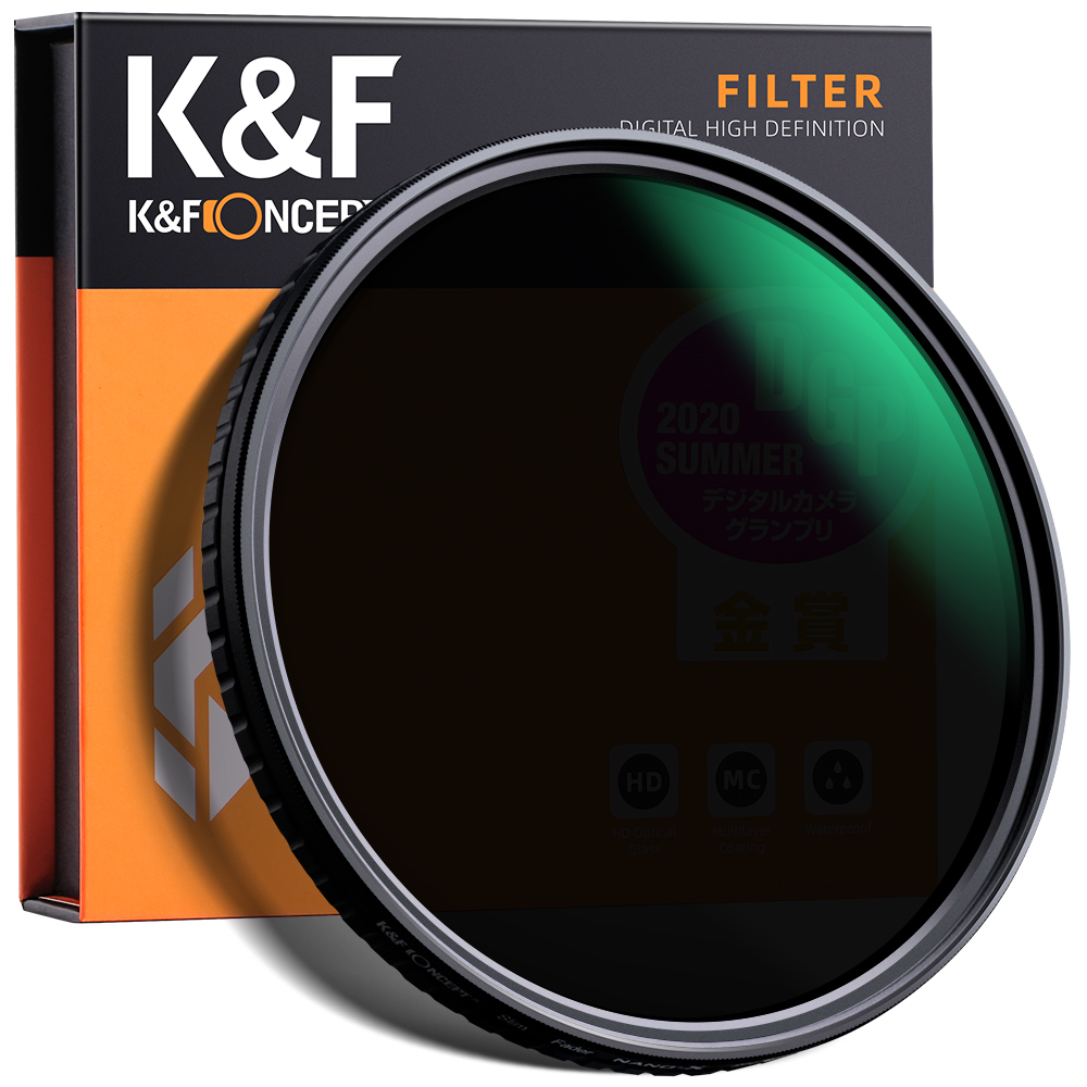 20%クーポン+5倍ポイント NDフィルター 62mm67mm72mm 可変式 特価キャンペーン 安売り X状ムラなし ND2-ND32減光フィルター レンズフィルター KF Concept メーカー直営店 薄型