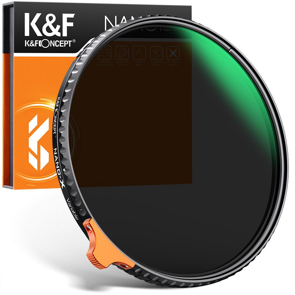 20%クーポン+5倍ポイント KF Concept ついに入荷 可変式NDフィルター 49mm52mm55mm ND2-ND400 Nano-X II 薄型 2021進化版 防水防塵 ナノコーティング 高解像度 2020 減光 光学ガラス