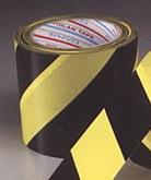 ダイヤテックス パイオラン標示テープ(トラテープ) TT-06-YB(ストライプ柄) 50mm幅×25m【1ケース/30巻入】【※2ケースごとに送料700円かかります】