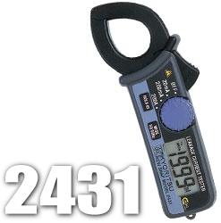 共立電気 漏れ電流・負荷電流測定用クランプメーター キュースナップ 2431(携帯用ケース付)