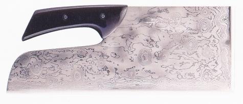 【蕎麦打ち道具】別打積層麺切包丁塗り柄(布ケース付)330mm A-1160