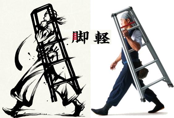 ハセガワ 専用脚立 脚軽【新型】 RZ2.0-12【天板高さ1.09m】