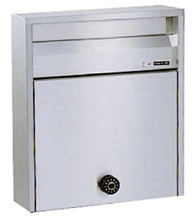 ハッピー ステンレスポスト ファミール 680-UK(ヘアーライン/ダイヤル錠)
