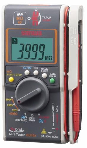 三和電気計器 ハイブリッドミニテスター DG35a/C(ケース付)【500V/250V/125V】