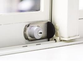 日本ロックサービス サッシ窓用補助錠 ファスナーロック FN469(鍵付) シルバー【10個セット】