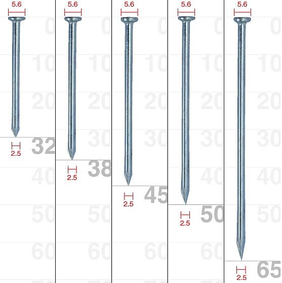 SC ムラタ ワイヤー連結釘 コンクリート用(スムース) 38mm MNH25-38【1ケース/300本×10巻×2箱】【※メーカー取寄品】