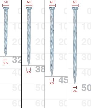 SC ムラタ ワイヤー連結釘 鋼板用(スクリュー) 45mm NAS25-50H【1ケース/300本×10巻×2箱】【※メーカー取寄品】