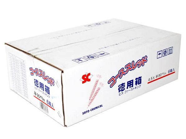 商い コーススレッド徳用箱 SC コーススレッド 迅速な対応で商品をお届け致します 徳用箱 4.5×90mm 200本×6箱入 ※2ケースごとに送料800円かかります 半ネジタイプ 1ケース