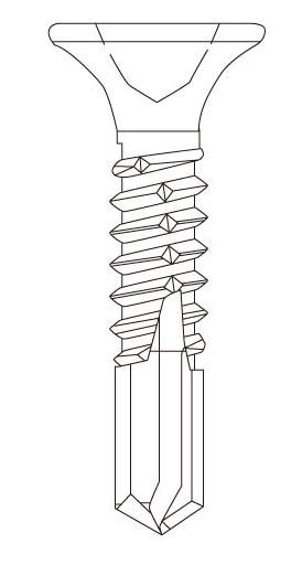 SC フジニッテイ ドリスク 鋼板用ビス 410ステンレス サラ DF-3919(S) 3.9×19mm【大箱/1000本×10箱】【※メーカー在庫僅少品のため、なくなり次第終了となります】