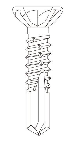 フジニッテイ 超定番 ドリスク SC 鋼板用ビス ユニクロ 500本×10箱入 至高 大箱 DR-3932 サラリブ付 3.9×32mm