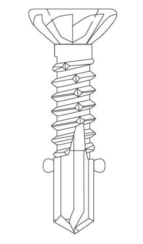 SC フジニッテイ ドリスク 鋼板用ビス 410ステンレス サラリブ・リーマー付 DR-4232R(S) 4.2×32mm【大箱/500本×10箱】