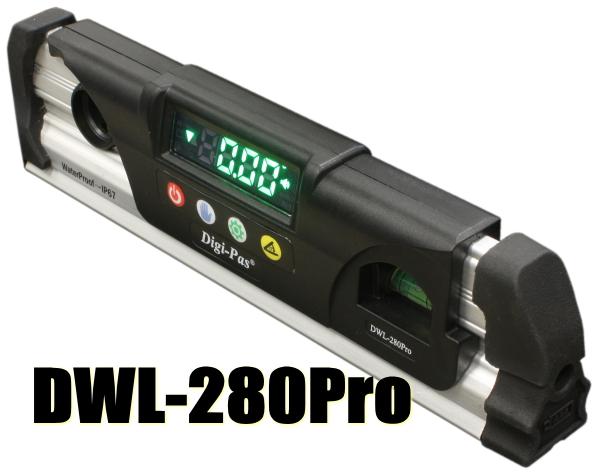 アカツキ 防水型デジタル水平器 DWL-280Pro