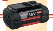 ボッシュ電動工具 36Vバッテリー【4.0Ah】 リチウムイオン スライドタイプ A3640LIB