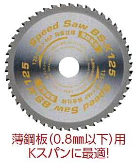 ワカイ 薄鋼板用チップソー スピードソー 190mm BSK-190