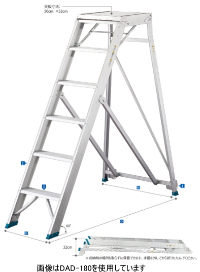店舗良い ハセガワ 折りたたみ式作業台 ライトステップ DAD-120【天板高さ1.20m】【メーカー直送品のため便はご利用になれません。】【※地域ごとに運賃別途見積となります】:ケンチクボーイ-DIY・工具