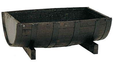 ハセガワ ウイスキー樽プランター GE-1 舟型63【※メーカー直送品のため代金引換便はご利用できません】