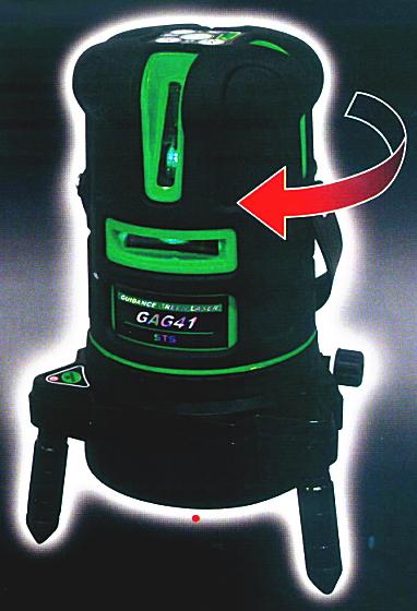 STS 自動誘導グリーンレーザー墨出し器 GAG41(誘導受光器付)【三脚は別売】
