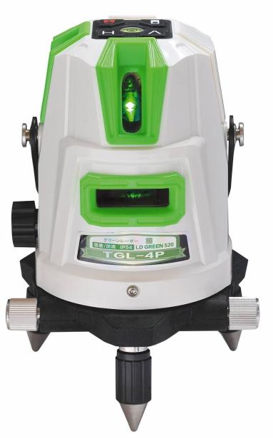 【特価品!!】ハンウェイテック グリーンレーザー墨出し器(ダイレクトグリーン&ドットライン) 極きわめ TGL-4P(本体+受光器+三脚付)