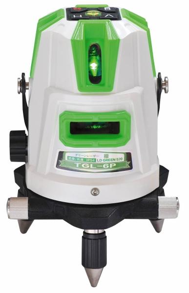 【特価品!!】ハンウェイテック グリーンレーザー墨出し器(ダイレクトグリーン&ドットライン) 極きわめ TGL-6P(本体+受光器+三脚付)