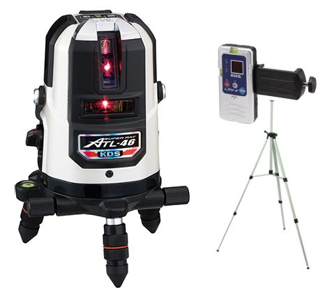 KDS 正規販売店 KDS レーザー墨出し器 高輝度スーパーレイ ATL-46ARSA(本体+受光器+三脚)