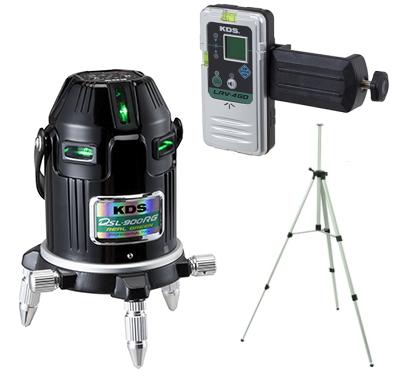 KDS 電子整準リアルグリーンレーザー墨出し器 DSL-900RGRSA【本体+受光器+三脚セット】