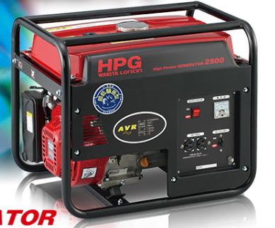 ワキタ メイホー発電機 スタンダード発電機 HPG2500-6(60hz専用)【※メーカーからの直送品のため代金引換便はご利用になれません】
