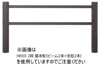 タカショーエクステリア【サポートウォール】 ワンダーウッド 丸太柵(組立式) H800 3段 NAE-83T(追加型)【※代金引換便はご利用になれません】