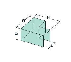 フクビ バルコニー用防水部材 ウェザータイト(バルコニー用/一体タイプ) 出入隅120(225×225×100mm) WTBD120【1ケース/20個】