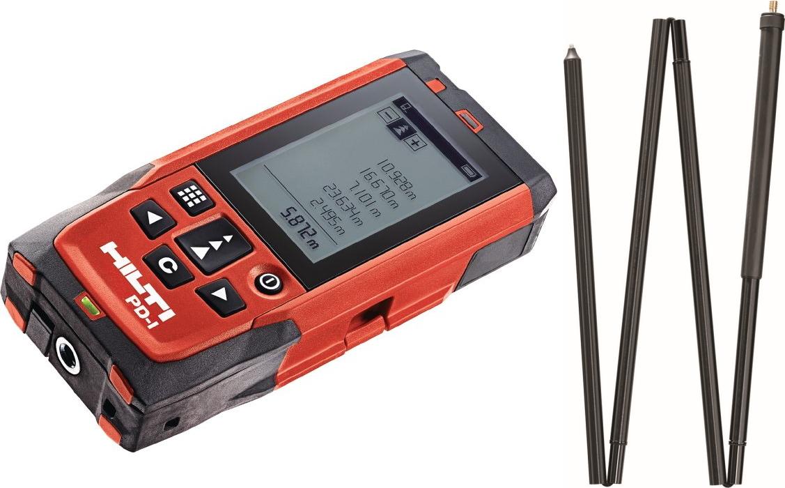 HILTI(ヒルティ) レーザー距離計 レーザーレンジメーター PD-E(延長棒PDA72セット)
