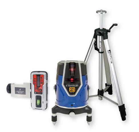 シンワ測定 レーザー墨出し器 レーザーロボNEO レッド E-SENSOR 21 71512【受光器・三脚セット】
