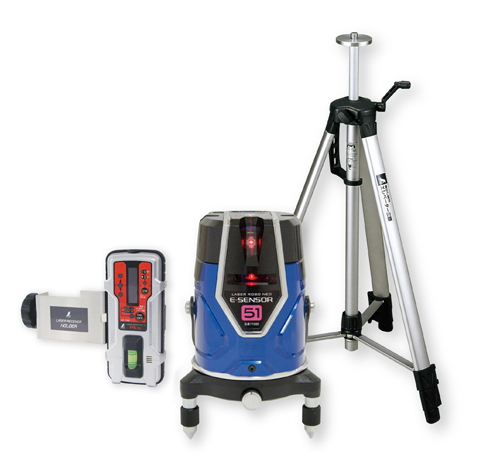 シンワ測定 レーザー墨出し器 レーザーロボNEO レッド E-SENSOR 51 71515【受光器・三脚セット】