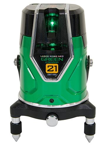 シンワ測定 レーザー墨出し器 レーザーロボNEO グリーン E-SENSOR 21 71602【受光器・三脚は別売】