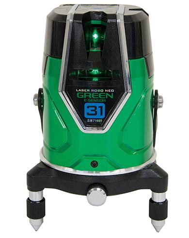 シンワ測定 シンワ測定 レーザー墨出し器 レーザーロボNEO グリーン E-SENSOR 31 71603【受光器・三脚は別売】