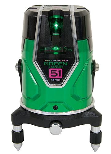 シンワ測定 シンワ測定 レーザー墨出し器 レーザーロボNEO グリーン E-SENSOR 51 71605【受光器・三脚は別売】