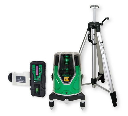 シンワ測定 レーザー墨出し器 レーザーロボNEO グリーン E-SENSOR 21 71612【受光器・三脚セット】