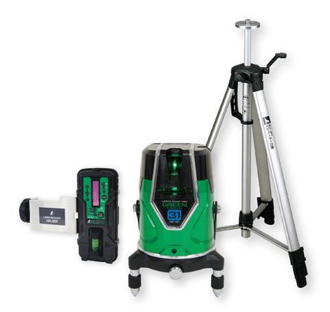 シンワ測定 シンワ測定 レーザー墨出し器 レーザーロボNEO グリーン E-SENSOR 31 71613【受光器・三脚セット】