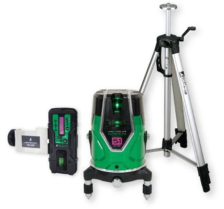 シンワ測定 シンワ測定 レーザー墨出し器 レーザーロボNEO グリーン E-SENSOR 51 71615【受光器・三脚セット】