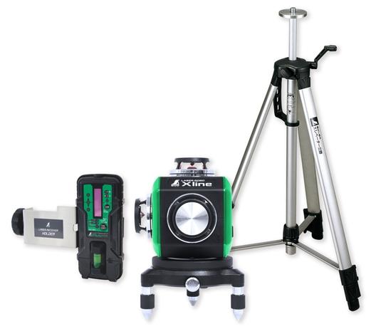 シンワ測定 レーザー墨出し器 レーザーロボXline グリーン フルライン・地墨クロス 71618【受光器・三脚セット】