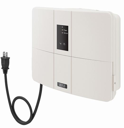 タカショーエクステリア LEDIUS ローボルトトランス(12V専用) 150W 常時点灯回路付 HEA-017I(アイボリー) プラグ付
