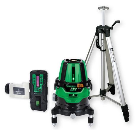 シンワ測定 レーザー墨出し器 レーザーロボグリーンNeo21AR BRIGHT 78287【受光器・三脚セット】