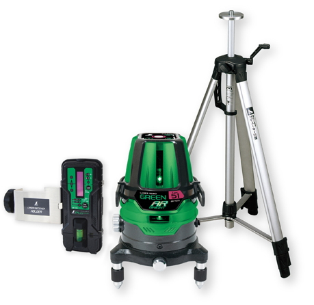 シンワ測定 レーザー墨出し器 レーザーロボグリーンNeo51AR BRIGHT 78289【受光器・三脚セット】